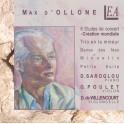 Ollone, Max d' : 6 Etudes de Concert, Trio, Danse de fées ...