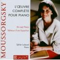 Moussorgski : L''Oeuvre complète pour piano