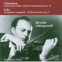 Chausson - Lalo : Concerto pour violon, Symphonie Espagnole