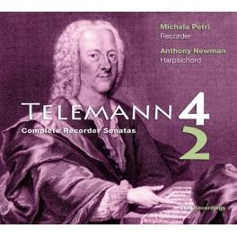 Telemann : Intégrale des Sonates pour flûte et basse continue