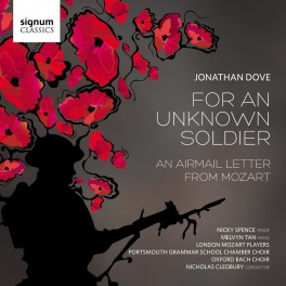 Dove, Jonathan : For An Unknown Soldier