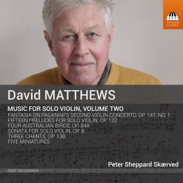 Matthews, David : Musique pour violon seul Volume 2
