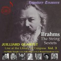 Brahms : Sextuors à cordes / Live At The Library Of Congress Vol.3