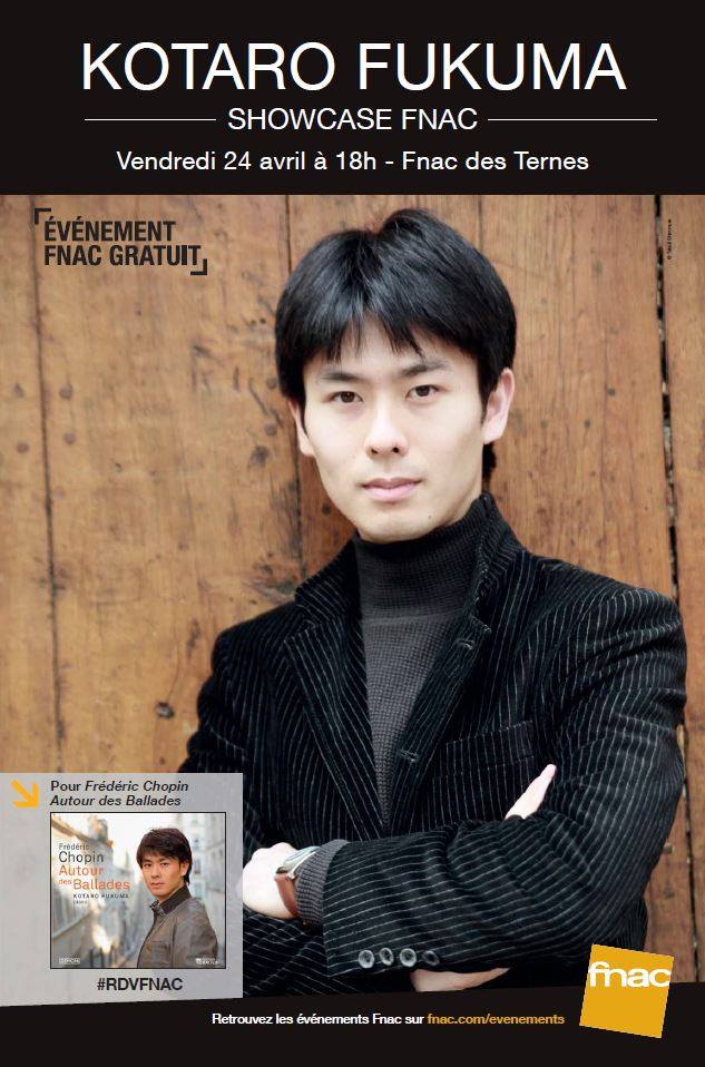 Showcase Fnac des Ternes pour Kotaro Fukuma