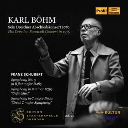 Edition Staatskapelle Dresden Vol.45 : Karl Böhm - Son concert d'adieu à Dresde en 1979