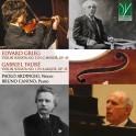Fauré - Grieg : Sonates pour violon / Paolo Ardinghi & Bruno Canino