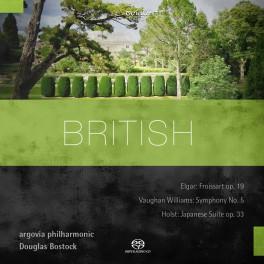 British, Oeuvres orchestrales de Elgar, Vaughan Williams & Holst