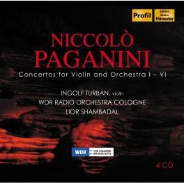 Paganini : Concertos pour violon et orchestre 1 à 6