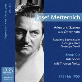Les Chanteurs Légendaires Vol.10 / Josef Metternich