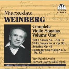 Weinberg : Intégrale des Sonates pour violon Vol.1