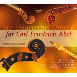 Bach, Johann Christian : Six Quatuors Opus 8 pour Carl Friedrich Abel