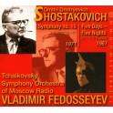 Chostakovitch : Symphonie n°15, Cinq jours, cinq nuits / Vladimir Fedosseïev