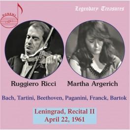 Récital à Leningrad 1961 - Volume 2 / Martha Argerich & Ruggiero Ricci