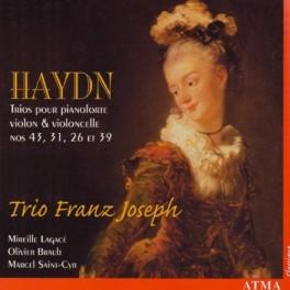 Haydn : Trios pour pianoforte, violon et violoncelle n°43, 31, 26 et 39