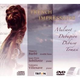 French Impressions : Sonates & concerto pour contrebasse et piano