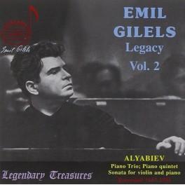 Emil Gilels Legacy Vol.2 / Alexandre Aliabiev : Musique de Chambe