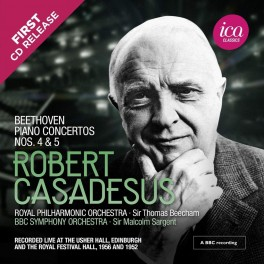 Beethoven : Concertos pour piano n°4 et 5 / Robert Casadesus (Richard Itter Collection)