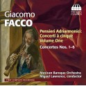 Facco, Giacomo : Pensieri Adriamonici - Concerti à cinque - Vol.1