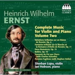 Ernst, Heinrich Wilhelm : Intégrale de la Musique pour Violon et Piano Vol.2