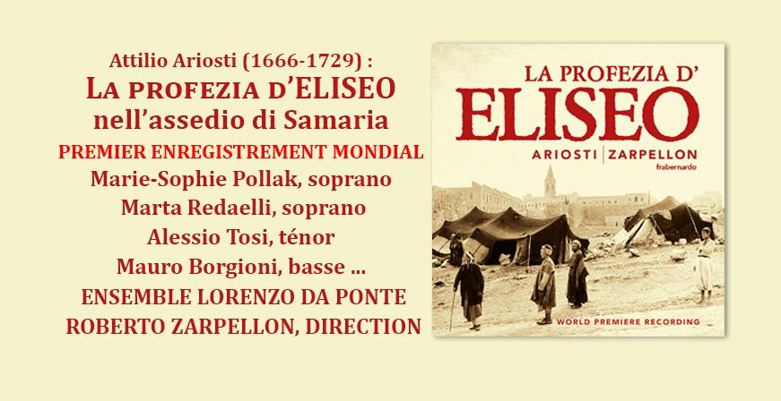 Ariosti : La profezia d'Eliseo