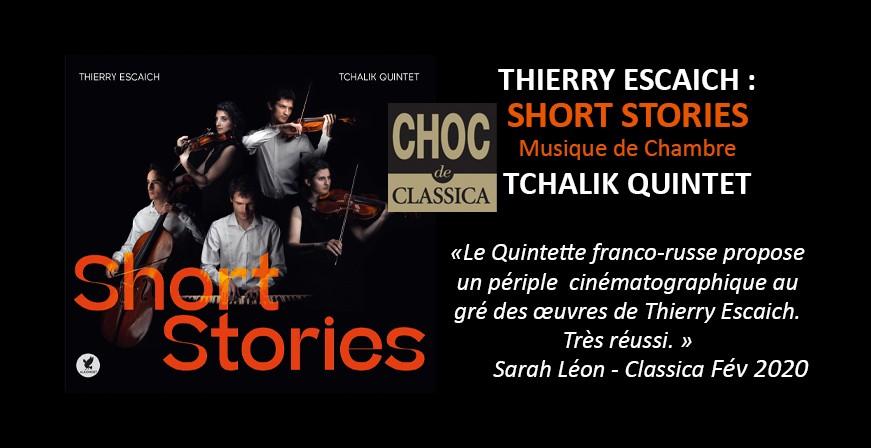 Escaich, Thierry : Short Stories / Tchalik Quintet