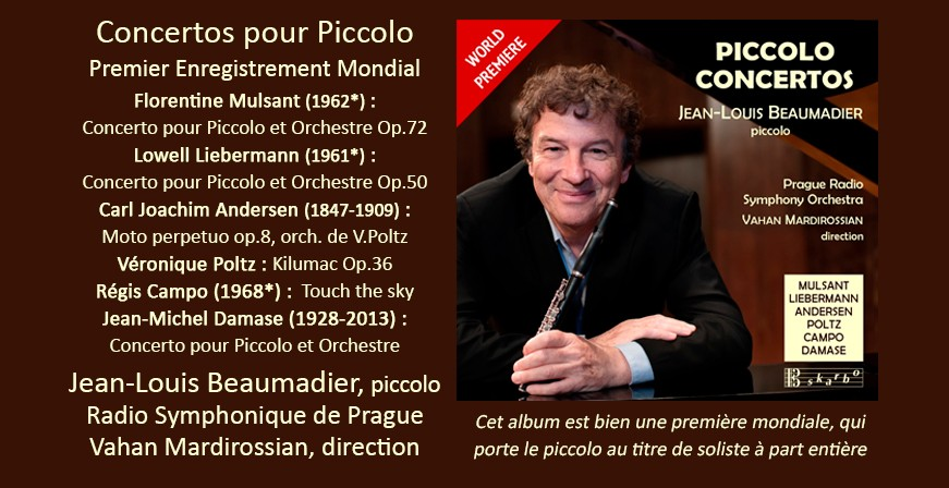 Concertos pour Piccolo / Jean-Louis Beaumadier